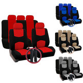 12 PCS Universal Vehicle Car Seat Cover with Headrest Steering Wheel Protector