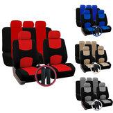 12 PCS Universal Fahrzeug Autositzbezug mit Kopfstütze Lenkradschutz