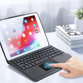 DUX DUCIS Custodia protettiva in TPU con tastiera touch wireless Bluetooth rimovibile 2-in-1 staccabile con trackpad Portapenne integrato per iPad pro 10.5 / per iPad air3 / per iPad7 10.2