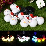 Solar Powered 3.5M 20LEDs Snowman Fairy String Light al aire libre Decoración navideña