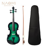 NAOMI Acoustic Violin 4/4 Violin Fiddle with Case + Bow Set