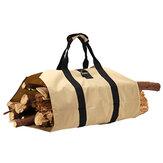 600D Oxford bærbar brændeholder Holder Træopbevaring Canvas Stofpose Udendørs campingtilbehør