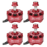 4X Racerstar 2306 BR2306S Fire Edition 2400KV 2-4S Brushless Motor For 210 220 250 300 RC Drone FPV Racing