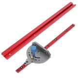 400-1200mm Aleación de aluminio rojo 45 Tipo T-Track Carpintería en T Ranura en inglete / Sierra de mesa Ranuradora Ingleteadora