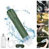 Filtro de água externo de palha Sistema de filtração portátil Purificador de água de 2 estágios Equipamento de sobrevivência para acampamento, caminhada, escalada