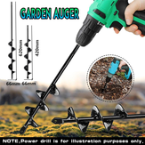 66x420/66x620mm Garden Auger Small Earth Planter Drill Bit Post Hole Digger Earth Planting Auger Drill Bit for Electric Drill