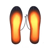 1 Pair Winter USB Heated Insoles Electric Heating Warm Sliceable Carbon Fiber Heating Insole