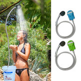 IPRee® Draagbare USB Douche Waterpomp Oplaadbare Nozzle Handdouche Kraan Camp Travel Outdoor Kit