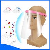 قناع واقي مزدوج الوجه مضاد للرذاذ لحماية الوجه بالكامل مثبت على الرأس للرعاية الصحية
