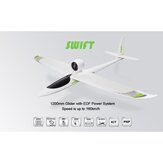 TOPRC Swift 1200mm Wingspan EPO Sport 160KM / H 64mm EDF PlaneRC Avião PNP