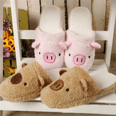 New Winter Lover Cartoon Pig Keep Warm Plush Cotton Home Indoor Lovely Slipper