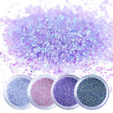 4 szt. 3D Colorful Nail Art Body Tattoo Glitter Powder
