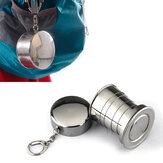 Honana HN-POC25 Нержавеющая сталь Портативная На открытом воздухе Путешествия Кемпинг Складная складная металлическая чашка для воды