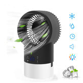 4 in 1 3-Speeds Adjustable Air Conditioner Cooler Fan Mist Purifier Humidifier Fan Portable Personal Air Cooler Desk Fan Quiet Circulation with 7 Colors Timing Lights for Outdoor Home Office