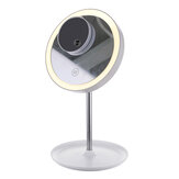 GLIME White Circular Mirror Lamp 1200 mA Battery with 5X Mag