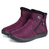 Women Casual Keep Warm Zipper Ankle Snow Boots