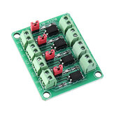 817 Optocoupler 4 Channel Voltage Isolation Board Voltage Control Switching Module Optical Isolation Module 3.3V 5V