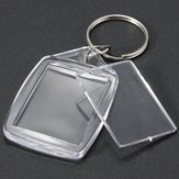25x35mm Clear Acrylic Plastic Blank Photo Insert KeyRing