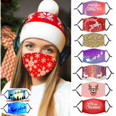 Adult Christmas Pattern Dust Mask with PM2.5 Filter Element Cosplay Mask
