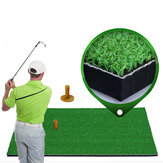30x60/90cm Grass Golf Training Practice Mat Golf Oxford TEE Driving Hitting Range Mat Golf Turf Pitching Mat with Rubber Tee Holder Indoor Outdoor