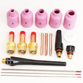 18 pcs TIG Welding Torch Gas Lens Kit WP-17 WP-18 WP-26 WT20 0.04