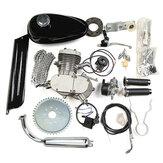 80cc 2 tempi Ciclo Bici Motore Motore Benzina Gas Kit adatto per bicicletta motorizzata cromata