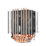 3 broches CPU Cooler Fan Heatsink 6 Copper Heatpipe Cooling Fan for Intel 775/1150/1151/1155/1156/1366 and AMD All Platforms