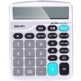 Deli 1532 Voice Компьютер Голос Человека 12-битный Большой Экран Экономический Калькулятор Поддержка Календарь Будильника