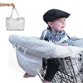 ベビーキッズショッピングカートクッション子供トロリーパッドベビーショッピングプッシュカート保護カバーベビーチェアシートマット安全ベルト付き