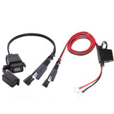 12V-24V 2.1A SAE to USB Adapter with Extension Harness Motorcycle Waterproof Charger