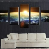 5 Cascade Sunset Space Canvas Muurschildering Afbeelding Home Decoration Without Frame Including Instal