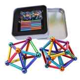 27Pcs Magnet Buck Ball 36PCs Magnetic Toys Multi-color Bar Intelligent Stress Reliever With Box