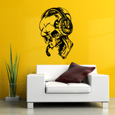 Hallowen Skull Head Showcase Glass Window Decor Wall Sticker Party House Home Decoration Creative Decal DIY Mural Wall Art Sticker
