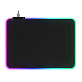 USB RGB Luminous Mouse Pad Waterproof LED Mouse Mat Game Keyboard Antiskid Mouse Pad 4mm Thick