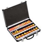 Drillpro 35PCS Set di punte per fresa in carburo di tungsteno con gambo da 8 mm Set di frese per lavorazione del legno in legno Coltello per rifilare Fresatura con cassa in lega di alluminio Scatola