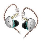 KBEAR KB06 2BA + 1DD Unit Logam HiFi Sport Di Telinga Earphone 3.5mm Super Bass Musik Earbud Dengan Kabel 2in untuk KBEAR F1 KB10