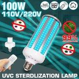100W UV مصباح مبيد للجراثيم E27 UVC LED لمبة تطهير ضوء مع توقيت التحكم عن بعد مراقبة AC110V / 220V