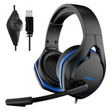 XIBERIA V22 Gaming Headset USB Wired 7.1 Channel Professional Headphone with Mic and LED Light for Computer Laptop Gamer