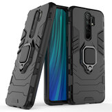 Bakeey Armor Shockproof Magnetic with 360 Rotation Finger Ring Holder Stand PC Protective Case for Xiaomi Redmi 9 Non-original