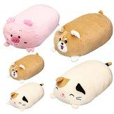 30 / 60cm Chubby Cute Soft Cojín de dibujos animados de animales de peluche de peluche de juguete cachorro de gatito relleno almohada