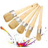 20/25/30/40/50mm Professional Chalk Paint Wax Brushes Painting Natural Bristles Cleaning Brush