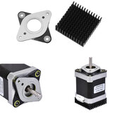 53.8*53.8mm NEMA17 Stepper Motor Vibration Shock Absorber Damper with Black Heat Sink for 3D Printer CNC Part