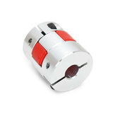 Machifit 5mm x 8mm Aluminum Flexible Spider Shaft Coupling OD25mm x L30mm CNC Stepper Motor Coupler Connector