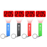 LED Projection Clock Mini Key Chain Alarm Clock Portable Digital Time Projection Clock Watch Night Light Flashlight