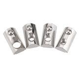 Drillpro 50pcs 30 Series Round Slot T Slot Nut Écrou élastique Spring Spring pour profilé d'aluminium de la série 30