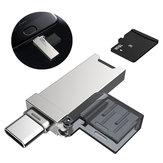 DM 2 in 1 metalen draagbare type-c OTG USB 2.0 TF geheugenkaartlezer voor xiaomi mobiele telefoon tablet pc niet-origineel