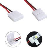 LUSTREON 2-pinowy adapter złącza zasilania do 3528/5050 Led Strip Wire Z PCB
