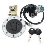 Ateşleme Anahtarı Cap Kilit, Suzuki GSXR600 97-00 GSXR750 için 2 Tuşla Set 93-99