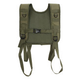 Militaire Tactical Verstelbare H-Harness Bretels Tactical Vest voor Shoulder Battle Belt Green