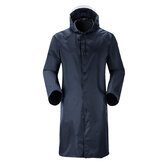 Adult Raincoat Jumpsuit Overalls Mens Women Coat Hooded Long Rainsuit Waterproof
